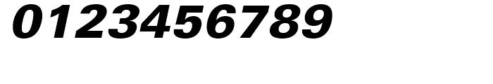 Univers 75 Black Oblique Font OTHER CHARS