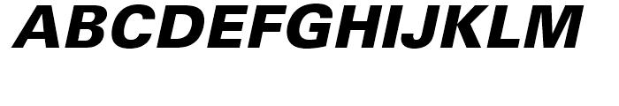 Univers 75 Black Oblique Font UPPERCASE