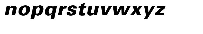 Univers 75 Black Oblique Font LOWERCASE