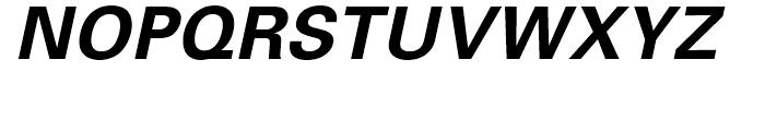 Univers Bold Oblique Font UPPERCASE