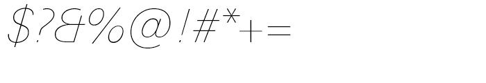 Univers Next 131 Basic Ultra Light Italic Font OTHER CHARS