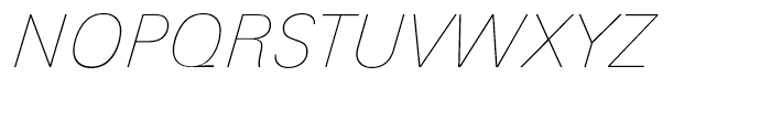 Univers Next 131 Basic Ultra Light Italic Font UPPERCASE