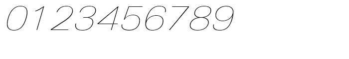 Univers Next 141 Extended Ultra Light Italic Font OTHER CHARS