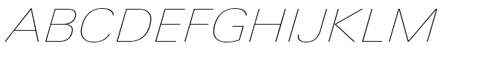 Univers Next 141 Extended Ultra Light Italic Font UPPERCASE