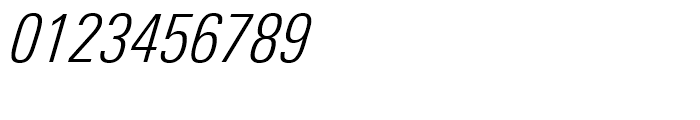 Univers Next 321 Condensed Light Italic Font OTHER CHARS