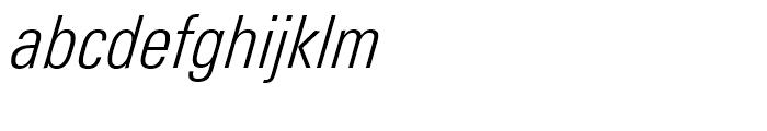 Univers Next 321 Condensed Light Italic Font LOWERCASE