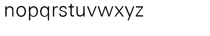 Univers Next 330 Basic Light Font LOWERCASE