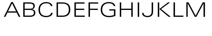 Univers Next 340 Extended Light Font UPPERCASE