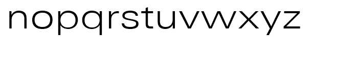 Univers Next 340 Extended Light Font LOWERCASE