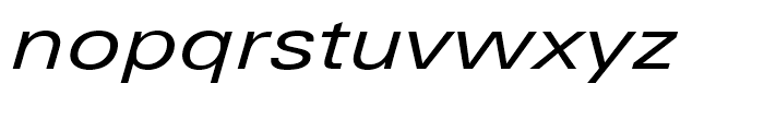Univers Next 441 Extended Regular Italic Font LOWERCASE