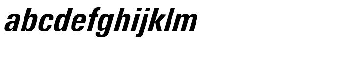 Univers Next 721 Condensed Heavy Italic Font LOWERCASE