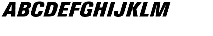 Univers Next 921 Condensed Extra Black Italic Font UPPERCASE