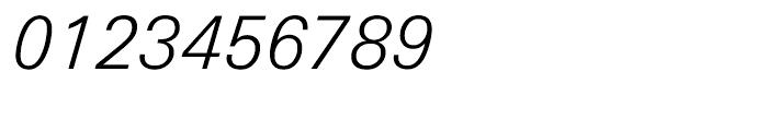 Univers Next Cyrillic 331 Light Italic Font OTHER CHARS