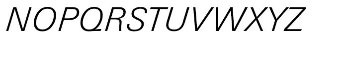 Univers Next Cyrillic 331 Light Italic Font UPPERCASE