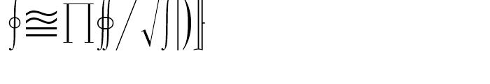 Universal Mathematical Pi 3 Font OTHER CHARS