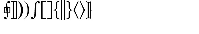 Universal Mathematical Pi 3 Font LOWERCASE