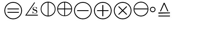 Universal Mathematical Pi 6 Font OTHER CHARS