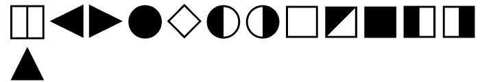 Universal Mathematical Pi 6 Font LOWERCASE