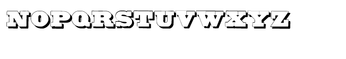 Untitled Wood Type Shadow Font LOWERCASE
