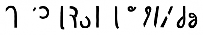 Undersong Half 2 Font LOWERCASE