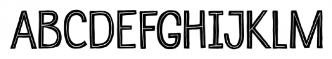 Undersong Inline Font UPPERCASE