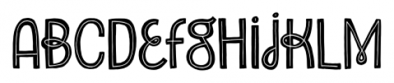 Undersong Inline Font LOWERCASE