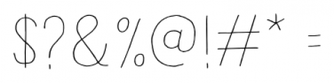 Undersong Line Font OTHER CHARS
