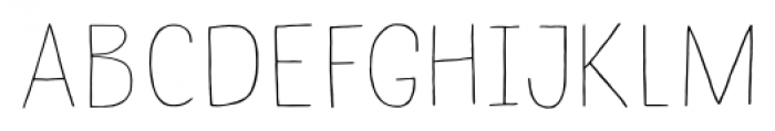 Undersong Line Font UPPERCASE