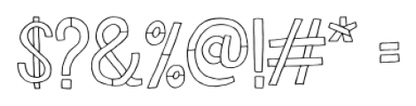 Undersong Regular Font OTHER CHARS