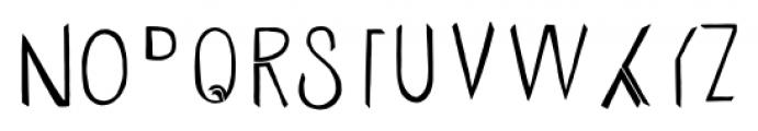 Undersong Split 2 Font UPPERCASE