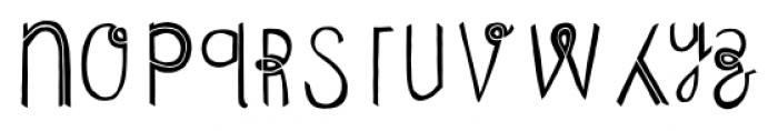 Undersong Split 2 Font LOWERCASE