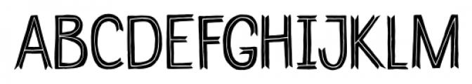 Undersong Split Font UPPERCASE