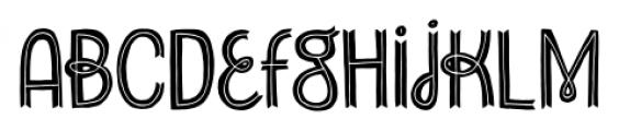 Undersong Split Font LOWERCASE