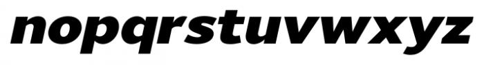 Uniman Black Italic Font LOWERCASE