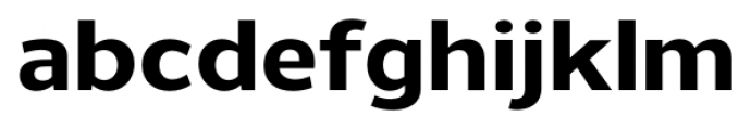 Uniman ExtraBold Font LOWERCASE