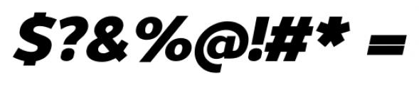 Uniman Heavy Italic Font OTHER CHARS