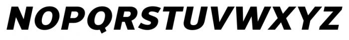 Uniman Heavy Italic Font UPPERCASE
