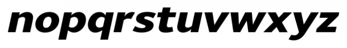 Uniman Heavy Italic Font LOWERCASE