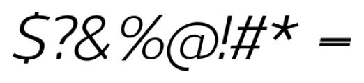 Uniman Italic Font OTHER CHARS