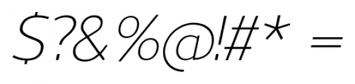 Uniman Light Italic Font OTHER CHARS