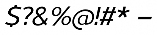 Uniman Medium Italic Font OTHER CHARS
