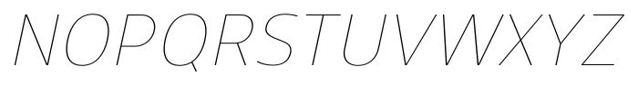 Uniman UltraLight Italic Font UPPERCASE