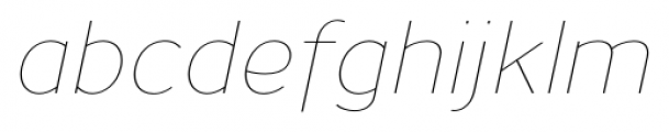 Uniman UltraLight Italic Font LOWERCASE