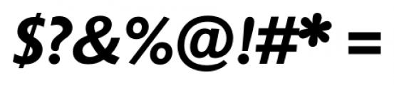 Unita BoldItalic Font OTHER CHARS