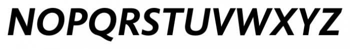 Unita BoldItalic Font UPPERCASE