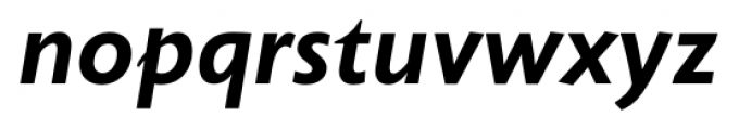 Unita BoldItalic Font LOWERCASE