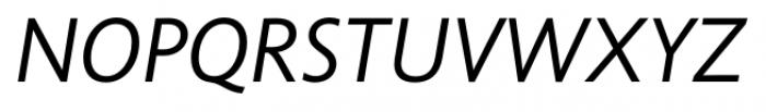 Unita DemilightItalic Font UPPERCASE