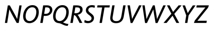 Unita Italic Font UPPERCASE