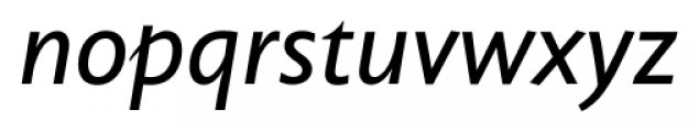 Unita Italic Font LOWERCASE