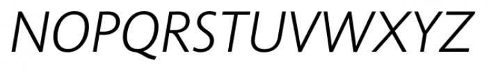 Unita LightItalic Font UPPERCASE